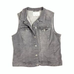 Two by Vince Camuto Gray Denim Vest size L 🤖